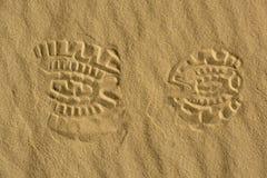 Empreinte de pas dans le désert image libre de droits