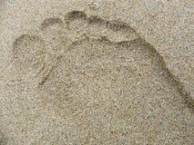Empreinte de pas dans le sable photos stock