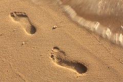 Empreinte de pas dans le sable Images stock