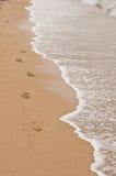 Empreinte de pas dans le sable Image libre de droits