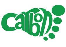 Empreinte de pas de carbone illustration stock