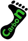 Empreinte de pas de carbone photos libres de droits