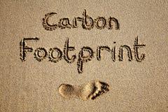 Empreinte de pas de carbone. Images libres de droits
