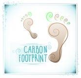 Empreinte de pas de carbone avec des motifs floraux Photo libre de droits