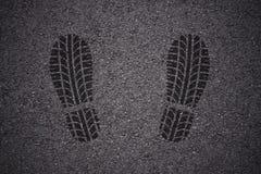 Empreinte de pas de chaussure de modèle de bande de roulement de pneu Images libres de droits
