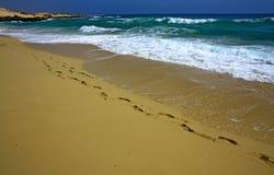 empreinte de pas de plage Image stock