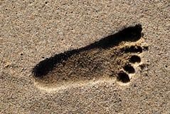 Empreinte de pas en sable Image libre de droits