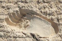 Empreinte de pas en sable Photo stock