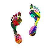 Empreinte de pas humaine Image libre de droits