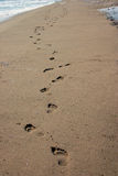 Empreinte de pas sur des sables Images stock