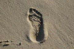 Empreinte de pas sur le sable Image libre de droits