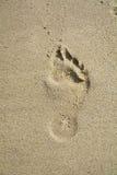 Empreinte de pas sur le sable, fond abstrait Photo libre de droits