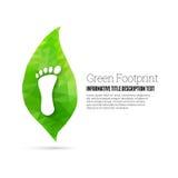 Empreinte de pas verte Images libres de droits