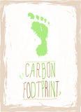 Empreinte de pas verte de carbone Image stock
