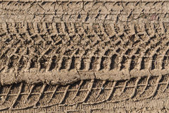empreinte de pas 4x4 au sol boueux Photographie stock