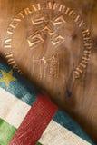 Empreinte de timbre d'affiche faite dans République Centrafricaine Photo libre de droits