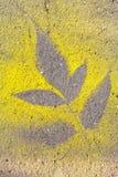 Empreinte des feuilles Image libre de droits