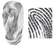 Empreinte digitale Image libre de droits