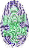 Empreinte digitale avec le puzzle Image stock