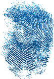 Empreinte digitale bleue Photos libres de droits