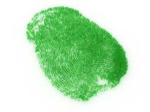 Empreinte digitale d'herbe Photo libre de droits