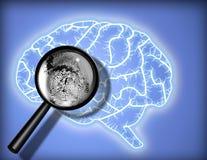 Empreinte digitale de cerveau Photo libre de droits