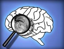 Empreinte digitale de cerveau illustration de vecteur