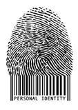 Empreinte digitale de code barres,   Photo libre de droits