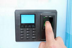 Empreinte digitale et blocage de mot de passe Photographie stock