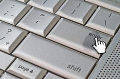 Empreinte digitale laissée sur le clavier photos stock