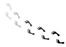 Empreintes de pas Image libre de droits