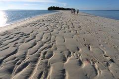 Empreintes de pas 8 de plage sablonneuse Images stock