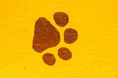 Empreintes de pas d'animal de peintures Photo libre de droits