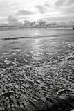 Empreintes de pas d'océan Photographie stock libre de droits