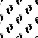empreintes de pas d'une icône d'enfant Élément d'icône de bébé pour les apps mobiles de concept et de Web Modelez les empreintes  illustration libre de droits