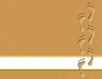 Empreintes de pas dans l'illustration de sable Photos libres de droits