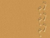 Empreintes de pas dans l'illustration de sable Photographie stock