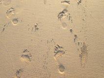Empreintes de pas dans le sable Image libre de droits
