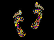 Empreintes de pas de fleur Images libres de droits