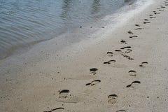 Empreintes de pas de Jésus Photos libres de droits