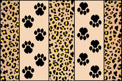 Empreintes de pas de léopard Image stock
