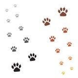 Empreintes de pas de pattes Images stock