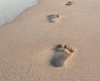 Empreintes de pas de sable Image libre de droits