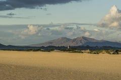 Empreintes de pas en dunes de sable Photographie stock