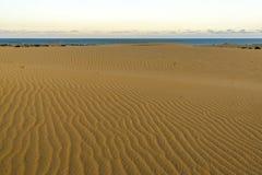 Empreintes de pas en dunes de sable Photos libres de droits