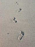 Empreintes de pas en sable Images libres de droits