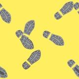Empreintes de pas humaines Photographie stock