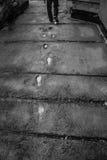 Empreintes de pas humaines Images libres de droits