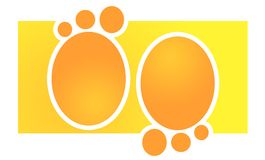 Empreintes de pas oranges image libre de droits