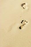 Empreintes de pas sur la plage de boracay Photos libres de droits